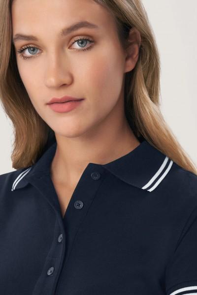 Modell 6205 HAKRO Damen Poloshirt Twin-Stripe
